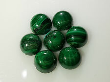 Natural Loose Green Malachite Round Cabochon 9mm approximate 2pc 8cts Nontreated