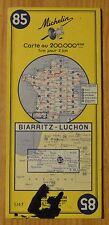 Carte Michelin 1-200 000e n°85 Biarritz-Luchon, 1964, tâche sur la couverture
