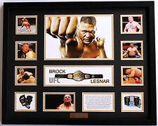 New Brock Lesnar Limited Edition Memorabilia Framed