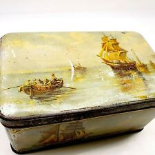 DEKKER & ZOOM empty COCOA TIN METAL box vintage antique 1920's HOLLAND