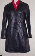 Juliet Michelle by Adler Black Leather Insulated Women Coat Size:M