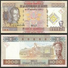 GUINEA CONAKRY - 1000 francs 2010 P# 43  UNC Africa banknote - Edelweiss Coins