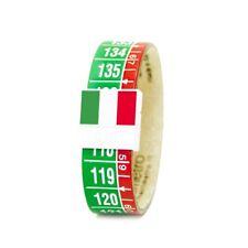 IL CENTIMETRO Bracciale uomo donna Tricolore C541 XS vera pelle bandiera italian