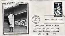 Babe Ruth Set of 12  First Day Covers  1983  Free Ship DJSPhotoCollages