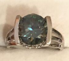 Gold Over Silver Filigree Ring Vs2 3Ct Gorgeous Moissanite 14k