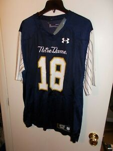 NWT Mens Large Under Armour Notre Dame 2018 Shamrock Series Football Jersey New
