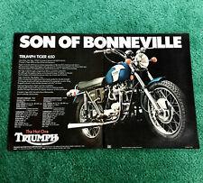 ORIGINAL 1972 TRIUMPH MOTORCYCLE MAGAZINE AD TIGER-650 TR6RV POSTER?