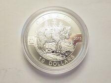 2013 $10 Canada (1/2 oz Silver, .9999 fine) Wolf, Mint Pkg & COA,  LE