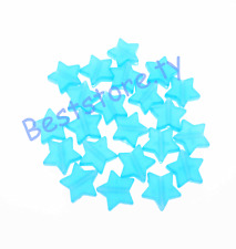 100Pcs Frosted Acrylic Star Shape Spacer Loose Beads 10mm Blue color