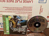 Road Rash (Sony PS1 CIB W/ Registration Card) & Road Rash 3D Disc Bundle Tested