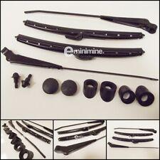"Classic Mini Wiper Arm & 10"" Blade BLACKOUT Kit Push On Type MK3> CZH4331 RHD"