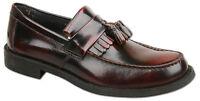 Mens New Oxblood Leather Slip On Tassel Loafer Shoes Size 6 7 8 9 10 11 12