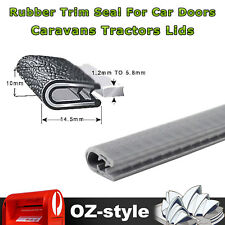 5M Weatherstrip Car Doors Edge Protection Waterproof PVC Grey Rubber Seal Trim