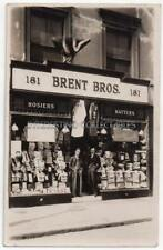 BRENT BROS, 181 Portobello Road SHOP FRONT - Hosiers, Hatters, Outfitters London