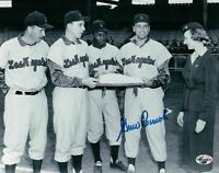 Gino Cimoli Signed 8X10 Photo Autograph Dodgers 1958 First Game Plate Auto COA