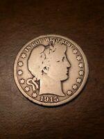 1915 P Barber Half Dollar