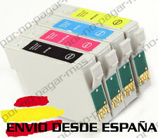 4 CARTUCHOS DE TINTA COMPATIBLE NON OEM PARA EPSON WF 2660DWF T1635 T1631/2/3/4