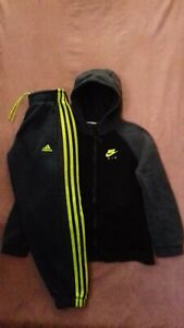 Boys Nike Air Zip Up Hoodie AND Adidas Climalite Joggers Age 8-10 Years
