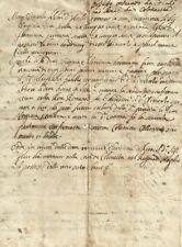 Elenco delle Proprietà e Beni del Sig. Foschi Colonnella in Teramo 1600