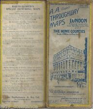 A.A. duplex throughway maps London Home Counties 1929