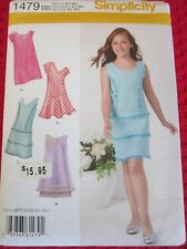 Simplicity 1479 GIRLS' PLUS DRESS Sewing Pattern PARTY DRESSES 8 1/2-16 1/2 UC!!