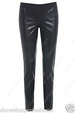 NEW Women's Faux Leather Look Disco Pants Skinny Black Leggings Size 8 10 12 14