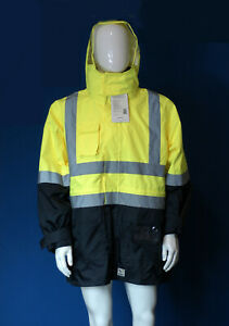 Rainbird Utility 4 in 1 waterproof rain jacket / inc vest hi-vis tape size Large
