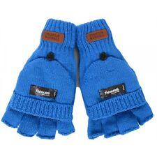 Franklin & Marshall Half Finger Mitten Blue Gloves