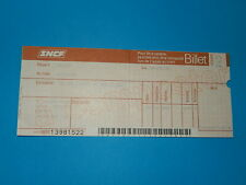 TICKET TRAIN VINTAGE 1982  AVIGNON TARASCON ARLES    SNCF
