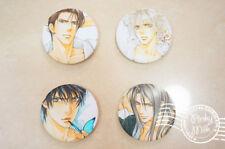 4pcs Ayano Yamane BL Manga Takaba Akihito Asami Ryuichi Pin Button Bedge Badge