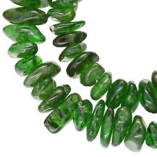 """16"""" Emerald Green Russian Diopside Nugget Chip Beads ap.5-9mm #85443"""