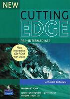 NEW CUTTING EDGE Pre-Intermediate Students' Book w Mini-Dictionary & CD-ROM @New