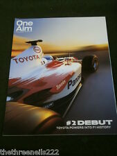 TOYOTA - ONE AIM #2 F1 DEBUT - SUMMER 2002