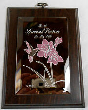 "SWEET HEART MIRRORED PLAQUE  ""FOR THAT SPECIAL PERSON IN MY LIFE"""