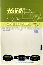 1966 Chevy Truck Owner Manual with Envelope 66 Pickup Suburban C10-C30 K10-K30