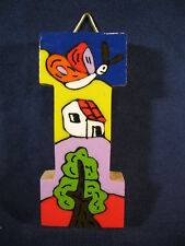 La Palma Folk Art from El Salvador Letter I Handcrafted from Recycled Wood