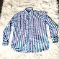 Paul & Shark Yachting Men's Size 46 Long Sleeve Striped Multi Color Dress Shirt