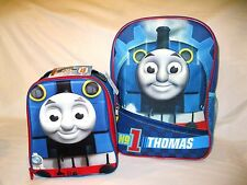 "THOMAS THE TRAIN 12"" BACKPACK+MATCHING THOMAS THE TRAIN LUNCHBOX LUNCH BAG-NEW!"