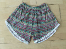 Häkelshorts Pants schwarz Shorts Short Damen S M L  Häkel Romantik Hose HotPants