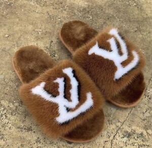 Brown Fur Slippers