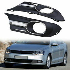 Front Bumper Grille Grill Replace Fit for VW Jetta MK6 11-14 with LED DRL Lamp