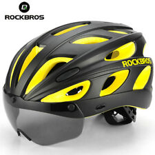 RockBros MTB Helmet Cycling Road Bike Helmets With Sunglass and Visor Yellow