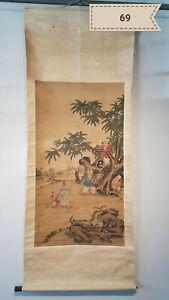 Shen Qinglan characters Antique Scroll