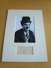 Charlie Chaplin Genuine Signed Authentic Autograph - UACC / AFTAL.