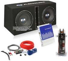 "MTX Magnum MB210SP 10"" 1200W Car Subwoofer System + Amp Kit + 2 Farad Capacitor"