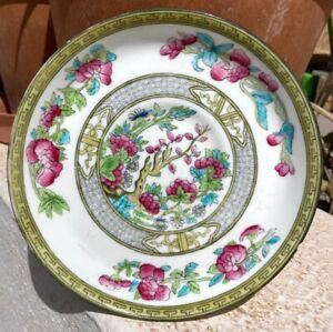 Antique Chinese Familie Rose Porcelain hand-paint Pictorial Wall Plate Dish Qing