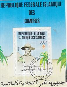 Schöner Block 230 aus Komoren gestempelt von 1982