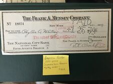 Phyllis A.Whitney - Author..Signed check - RARE