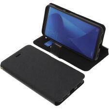 Funda para Asus Zenfone Max M1 zb555kl Book Style Funda teléfono móvil Negro