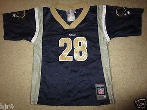 Marshall Faulk #28 St. Louis Rams Reebok NFL Jersey Toddler M 5-6 6T